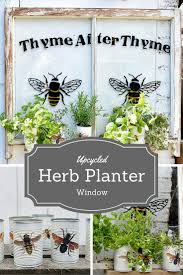 how to make an upcycled window herb planter pillar box blue