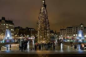 the tree lights at trafalgar square are due to be lit on