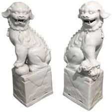 white foo dogs ceramic foo dogs 47 for sale on 1stdibs
