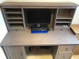 top office bureau brown black ikea hemnes bureau office desk with add on top