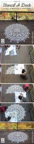 cutting edge stencils shares how to stencil a deck using a large