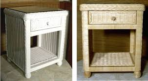 Wicker Rattan Bedroom Furniture by Side Table One Drawer Nightstand 17 Single Drawer Wicker Night