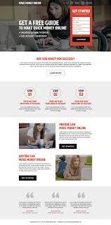 high converting makes money online landing page design 2016
