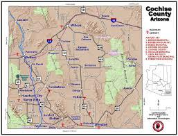 Map Of Arizona Towns by Cochise County Economic Development