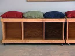 Plans For Building A Wood Bench by How To Build A Rolling Storage Bench Hgtv