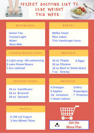 updated 1200 calories a day to lose weight printable menu