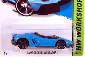 Lamborghini Aventador J Black - amazon com 2014 wheels hw workshop lamborghini aventador j