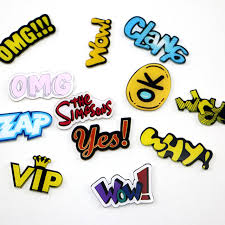 online shop creative cartoon letters vip omg icon acrylic magnetic