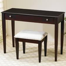 Vanity And Stool Set Brown Fabric Vanity Set With Stool Steal A Sofa Furniture Outlet