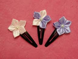 ribbon flowers diy kanzashi flower hairclips ribbon flowers tutorial how to make