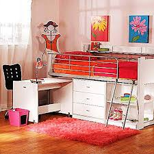 storage loft bed with desk charleston storage loft bed with desk white amazon co uk kitchen