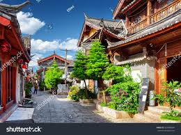 scenic street old town lijiang yunnan stock photo 520488394
