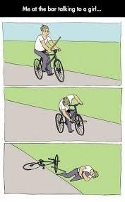 Bike Crash Meme - i m familiar with that feeling the meta picture
