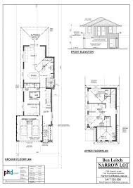 baby nursery house plans narrow lot with view narrow lot house