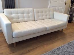 Narrow Leather Sofa Ikea Landskrona 3 Seat White Leather Sofa White Leather Sofas