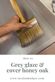 what of paint do you use on oak cabinets create grey stain look without stripping staining