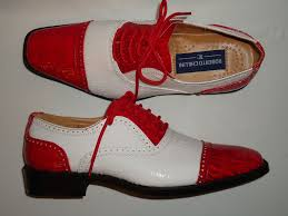 retro fashion red u0026 white faux croco dress shoes roberto chillini 6600