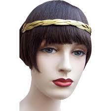 headband roll gold tone metal leaves tiara laurel wreath headband or