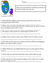 church house collection blog quiz over crucifixion and