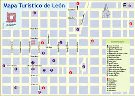 Leon Mexico Map by