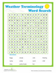 printable word search puzzles for 1st graders weather word search puzzle worksheet education com