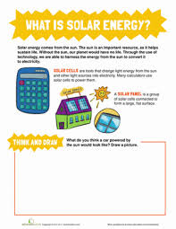 what is solar energy worksheet education com