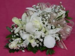 Prom Corsage Corsages Lincroft Fab Florist U0026 Gifts Silver Tulip Florist