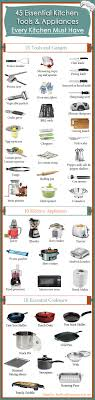 10 Must Haves For Every by 45 Essential Kitchen Tools And Appliances Every Kitchen Must
