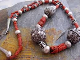 coral necklace antique images Antique hallmarked bedihi silver beads and mediterranean red coral jpg