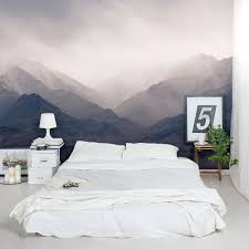 misty mountains wall mural home decor walls pinterest wall