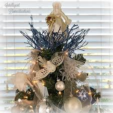 blue and white tree decorations intelligent domestications