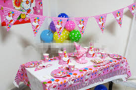 58pcs set pink luxury hello supplies birthday
