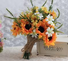 aliexpress com buy wedding flowers free form lilies sunflower