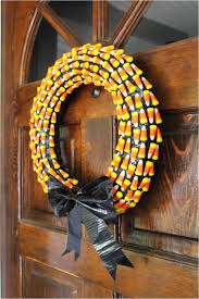halloween candy wreath scary diy wreaths to complete the halloween decor
