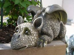 decorative garden dragon ledge sitter amazon co uk garden u0026 outdoors