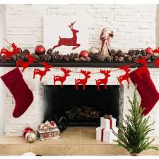 Hanging Decorations For Home Aliexpress Com Buy 3m Elks Garlands Christmas Decoration Hanging