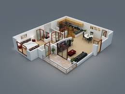 2 Bedroom House Plan 2 Bedroom House Floor Plans 3d