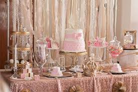 rose gold candy table kara s party ideas elegant baby shower kara s party ideas
