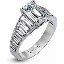 baguette ring simon g baguette diamond engagement ring h l gross jewelers