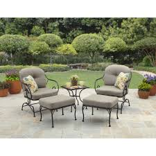 Patio Chairs With Ottoman Better Homes And Gardens Myrtle Creek 5 Piece Outdoor Leisure Set