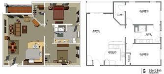 2 bedroom 1 bath house plans senior living floor plans shawnee senior living
