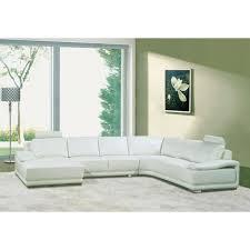 canapé en cuir blanc canapé d angle panoramique cuir blanc achat vente canapé