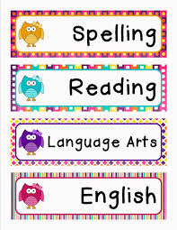 tearless teaching schedule cards owl theme