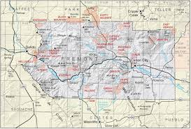 Map Of Colorado Springs Area by Fremont County Colorado Geological Survey