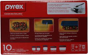 amazon com pyrex simply store 10 piece glass food storage set