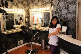 professional makeup station front desk girl alita at the brow and makeup station yelp