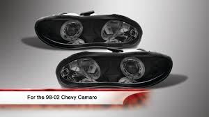 02 camaro headlights 98 02 chevy camaro led halo projector headlights