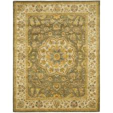 Green And Brown Area Rugs Amazon Com Safavieh Heritage Collection Hg954a Handmade