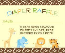 jungle safari diaper raffle ticket giraffe pattern diaper
