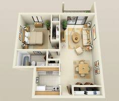 Four  Bedroom ApartmentHouse Plans Bedroom Apartment - One bedroom design